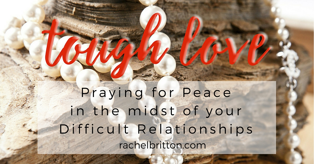 The goal of this 5 day Tough Love Prayer challenge? To learn: why you are never alone in praying for your difficult relationship, prompts for overcoming negative emotions, the benefit of breath prayer in combating stress and finding rest, identifying and eliminating obstacles hindering your relationships. Join us!