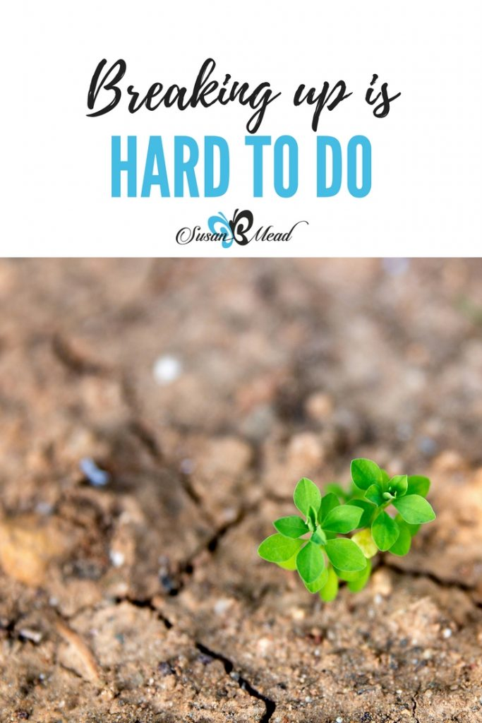 Breaking up is hard, hard, hard to do. Have you ever tried to break up? Simply H.A.R.D. Here's the dirt on that… All that clay and those dirt clumps resist everything you through their way to break them up. Yes, we're getting the scoop on breaking up dirt and clay today to create great garden dirt.