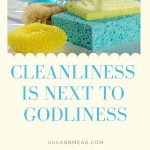 Cleanliness is Next to Godliness. Create in Me a Clean Heart
