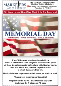 Honor a family member or friend on Memorial Day 2019