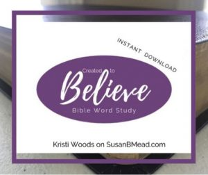 Believe Bible Word Study